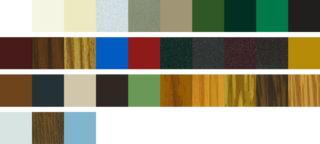 colori delle tapparelle in alluminio coibentato